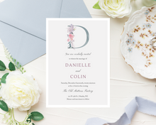 Load image into Gallery viewer, Une Fille Monogram Printed Wedding Invitations