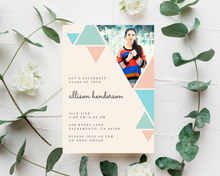 Load image into Gallery viewer, Geometric Printed Graduation Cards