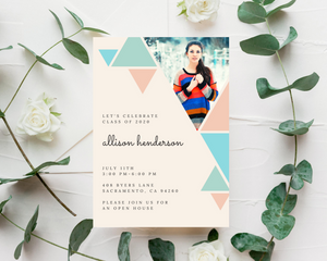 Geometric Printed Graduation Cards