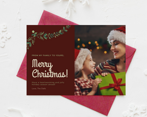 Cranberry Corners Printed Holiday Cards