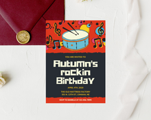 Load image into Gallery viewer, Rockin' Kids Printed Birthday Party Invitations