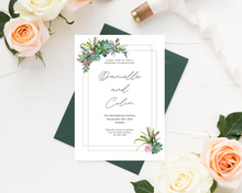Load image into Gallery viewer, Cacti Floral Bundle Printed Wedding Invitations