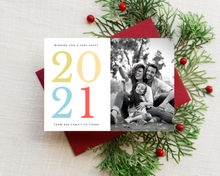 Load image into Gallery viewer, Colorful New Year Printed Holiday Cards