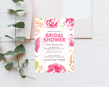 Load image into Gallery viewer, Watercolor Floral Printed Bridal Shower Invitations