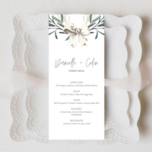 Load image into Gallery viewer, Winter Watercolor Snowberries Printed Menu Cards