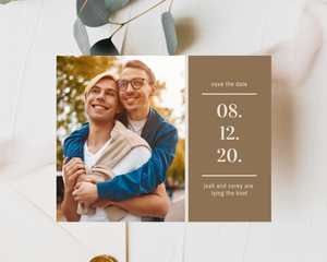Sunset Printed or Magnet Save the Date