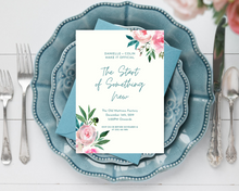 Load image into Gallery viewer, Pink Peony Corners Printed Wedding Invitations