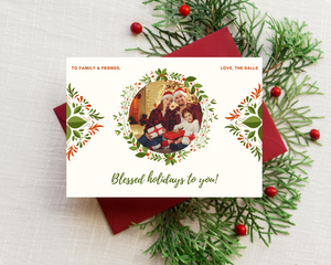 Gorgeous Garland Printed Holiday Cards