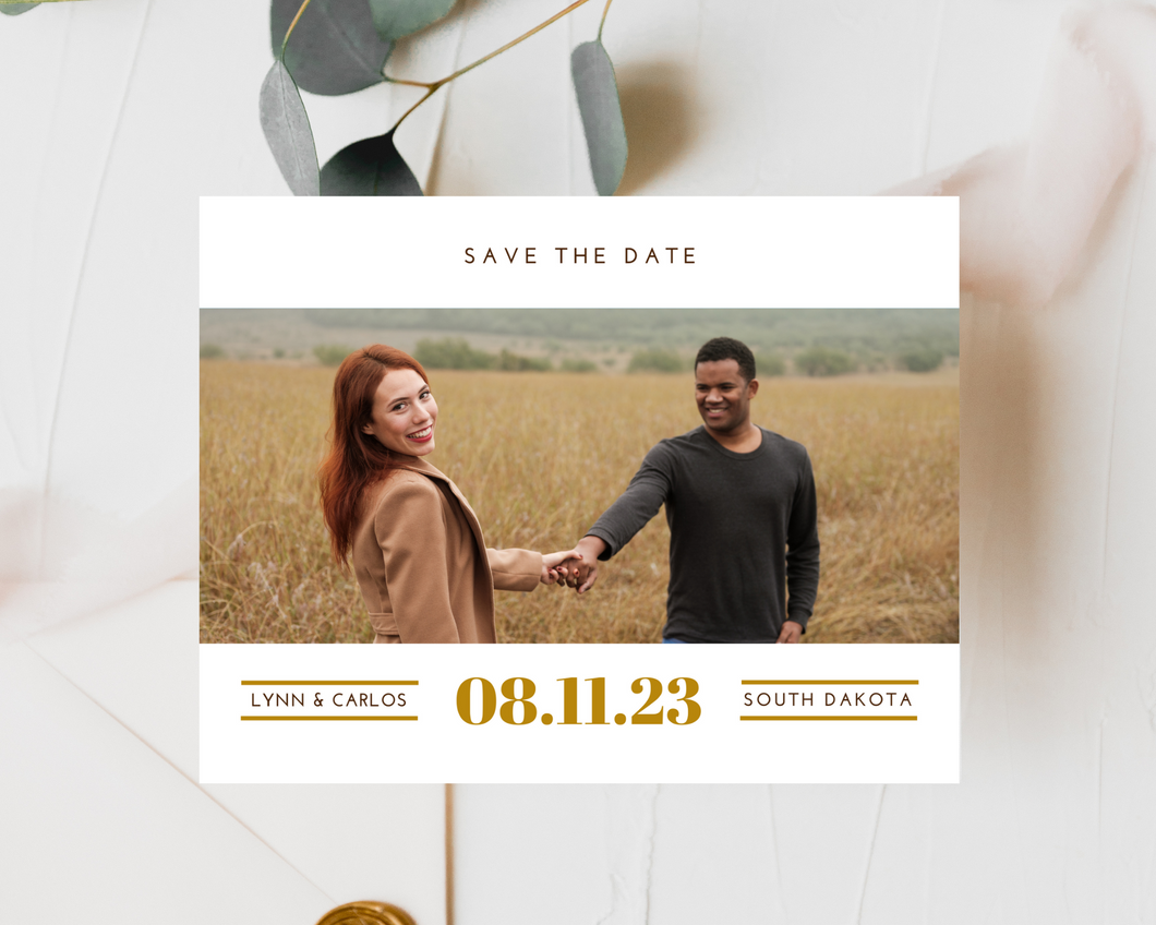 Wheatfield Printed or Magnet Save the Date