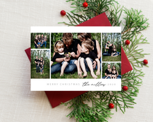 Load image into Gallery viewer, Flowy Script Collage Printed Holiday Cards