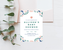Load image into Gallery viewer, Tea Party Printed Baby Shower Invitations