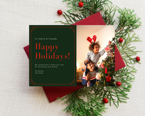 Christmas Eve Dinner Printed Holiday Cards