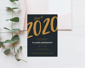 School Year Printed Graduation Cards