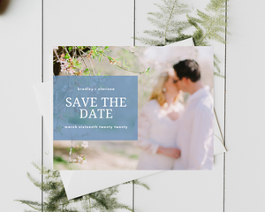 Tiffany Printed or Magnet Save the Date