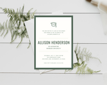 Load image into Gallery viewer, Basic School Colors Printed Graduation Cards