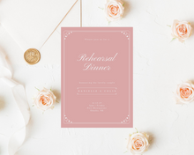 Load image into Gallery viewer, Simple Printed Rehearsal Dinner Invitations