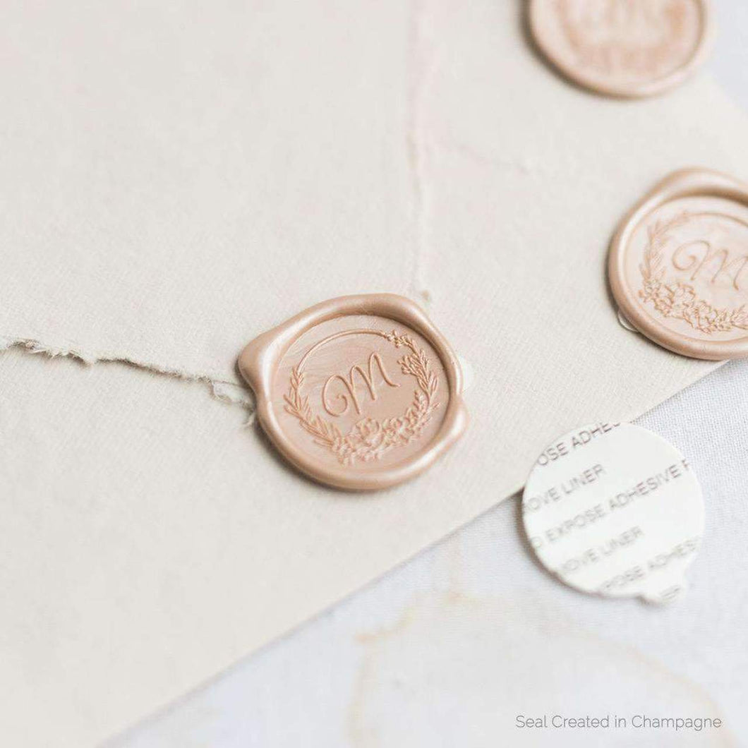 Ainsley Single Initial Wax Seals designed by Artisaire - Pack of 50