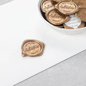 And So The Adventure Begins Wax Seals designed by Sablewood Paper Co. - 25 Pack