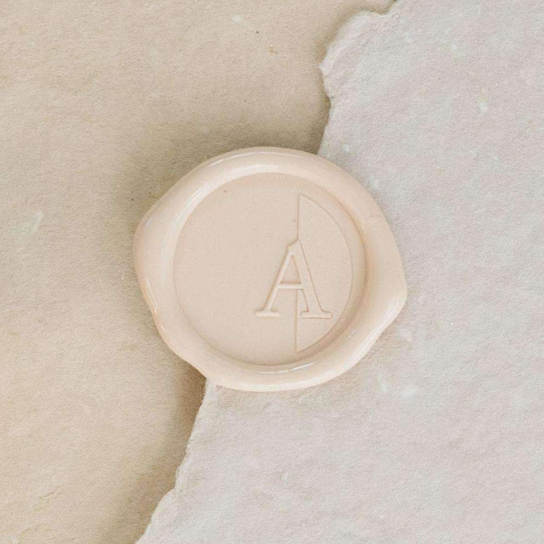 Audrey Single Initial Wax Seals designed by Jenny Sanders - Pack of 50