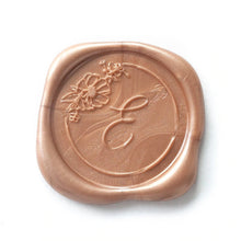 Load image into Gallery viewer, Floral Single Initial Wax Seals designed by Papel & Co. - Pack of 50