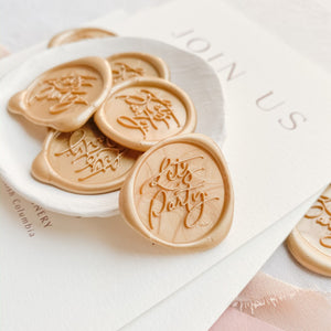 Let's Party Wax Seals designed by Steph B. & Co - 25 Pack
