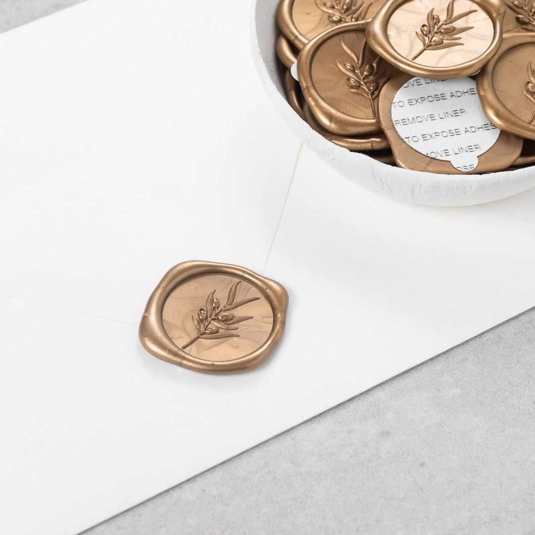 Olea Wax Seals designed by Sablewood Paper Co. - 25 Pack