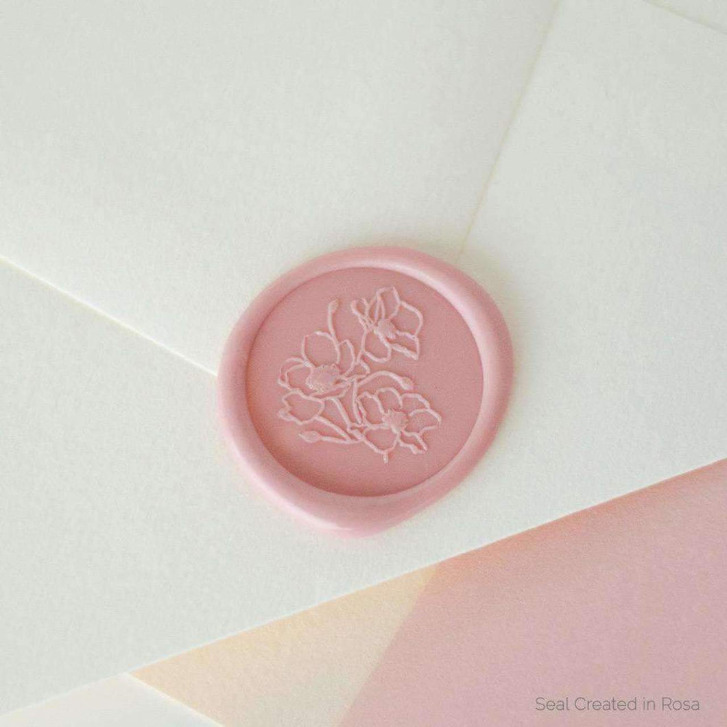 Poppy Wax Seals designed by Papel & Co. - 25 Pack