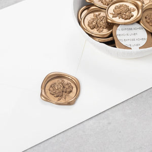 Vintage Peonies Wax Seals designed by Blushed Design - 25 Pack