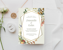 Load image into Gallery viewer, Fall Spice Geometric Printed Wedding Invitations