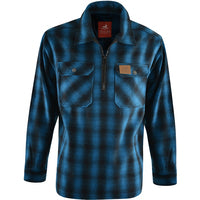 MALLARD 1/4 ZIP OVER SHIRT BLUE