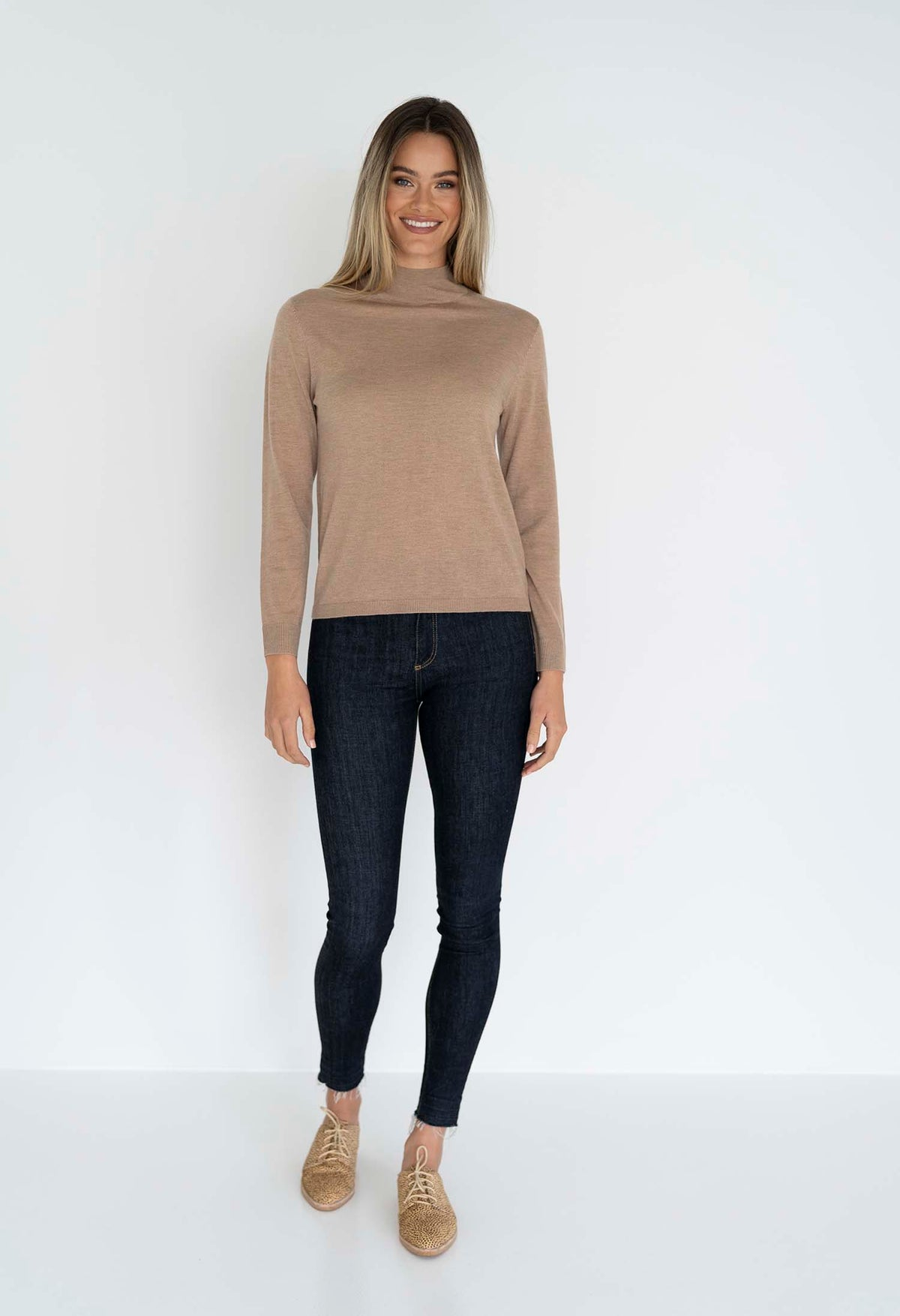 RUBY HI NECK BASIC LATTE