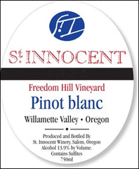 St. Innocent 'Freedom Hill' Willamette Pinot Blanc 2015
