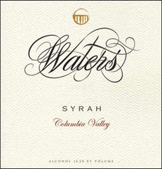 Waters Washington State Syrah 2015