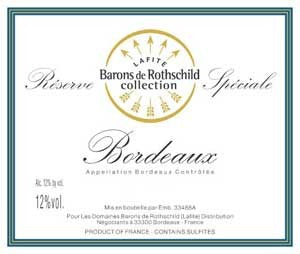 Domains Baron Rothschild 'Legende' Bordeaux Blanc 2018