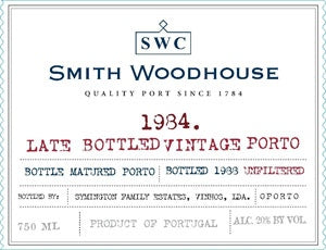 Smith Woodhouse 'Late Bottled Vintage' Port 1984