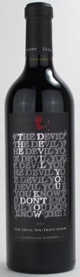 Gorman Winery The Devil You Don't Know 2018