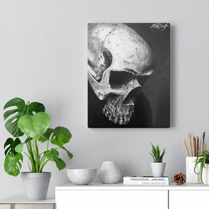 Shadow Realism Skull Canvas Wrap
