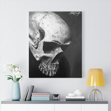 Load image into Gallery viewer, Shadow Realism Skull Canvas Wrap