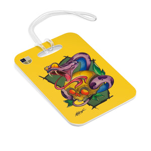 Snake and Skull Bag Tag