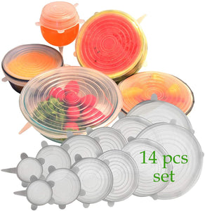 Silicone Stretch Lids Set Of 14
