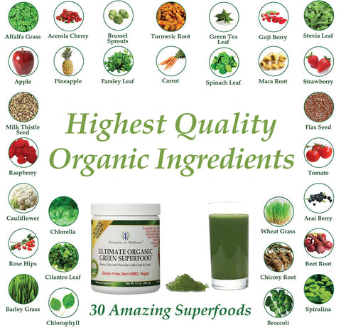 Highest Quality Organic Ingredients, 30 Amazing Superfoods