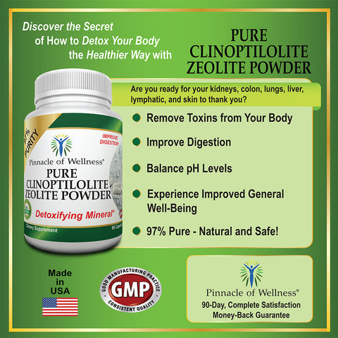 Pure Clinoptilolite Zeolite Powder Benefits
