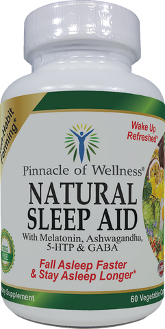 Natural Sleep Aid - Melatonin, Ashwagandha, 5-HTP, GABA and 12 Other Proven Ingredients - Herbal Non-Habit Forming Sleeping Pills (60 Vegan Capsules)