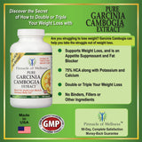 Pure Garcinia Cambogia Extract 180 Capsules FREE SHIPPING