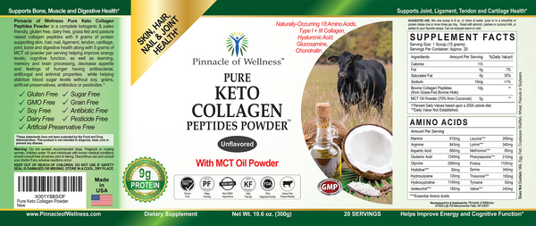 Pure Keto Collagen Peptides Powder with MCT Oil Powder