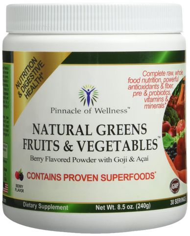 Natural Greens Fruits & Vegetables Superfood Powder FREE SHIPPING