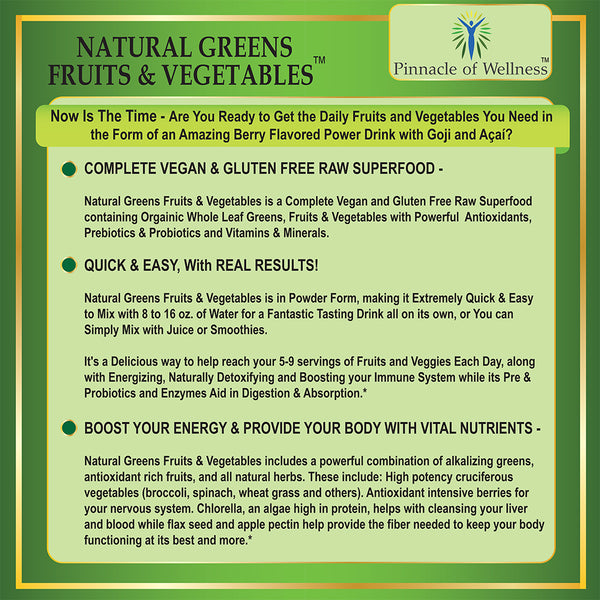Natural Greens Fruits & Vegetables Superfood Powder