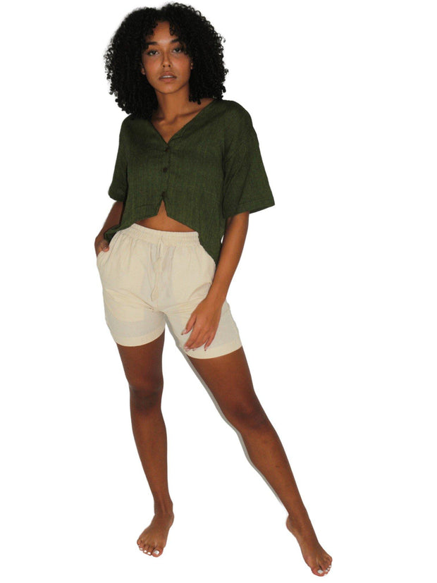 Pushaoo Hemp Shorts Hemp  Sustainable Clothes
