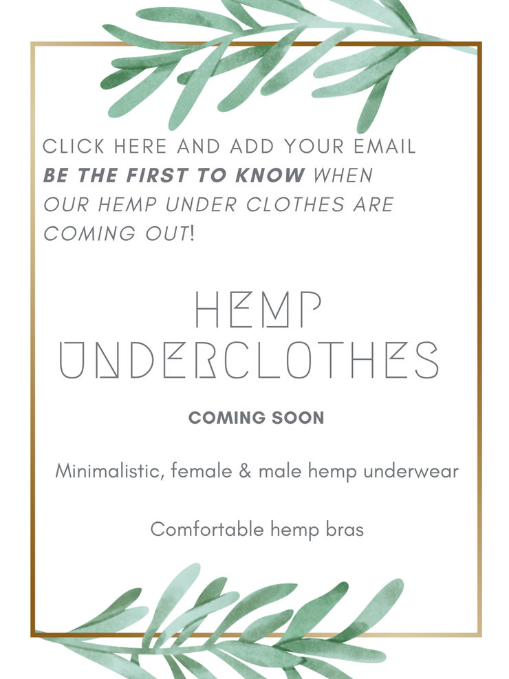 Pushaoo under clothes Hemp under clothes: Coming Soon Hemp  Sustainable Clothes