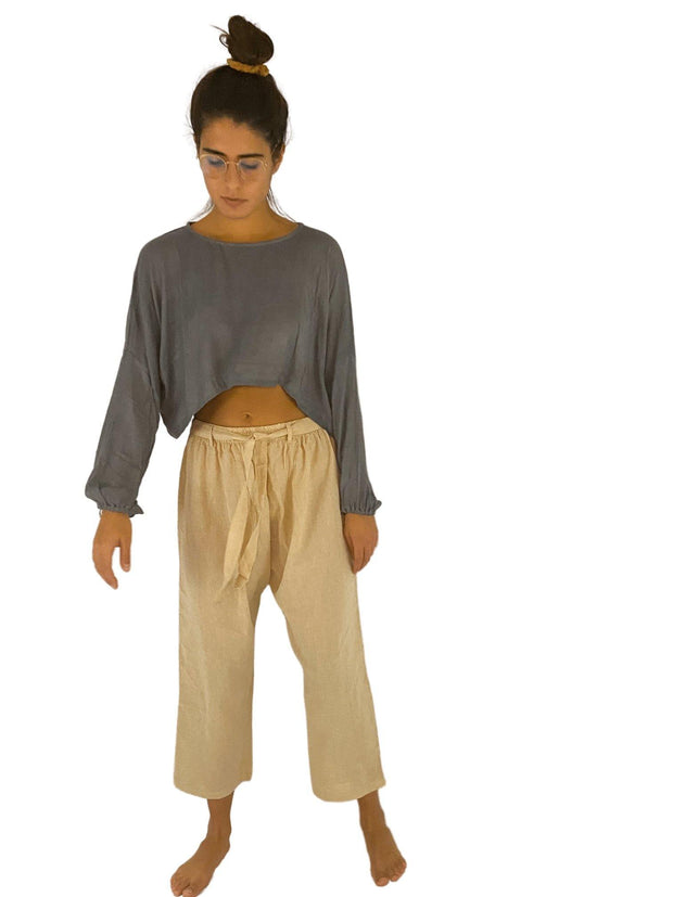 Pushaoo pants Unisex Pants with Belt Hemp  Sustainable Clothes